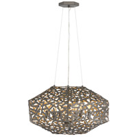 Kestrel 6 Light 22 inch Metallic Matte Bronze Chandelier Ceiling Light, Single Tier
