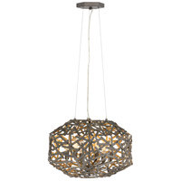 Fredrick Ramond FR38707MMB Kestrel 3 Light 16 inch Metallic Matte Bronze Chandelier Ceiling Light, Single Tier