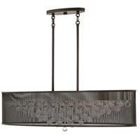 Fredrick Ramond FR38902BLK Fiona 8 Light 42 inch Black Linear Chandelier Ceiling Light