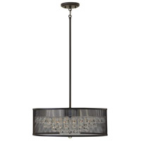 Fredrick Ramond FR38904BLK Fiona 5 Light 20 inch Black Foyer Ceiling Light