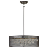 Fredrick Ramond FR38905BLK Fiona 6 Light 25 inch Black Foyer Ceiling Light