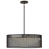 Fiona 8 Light 30 inch Black Foyer Pendant Ceiling Light