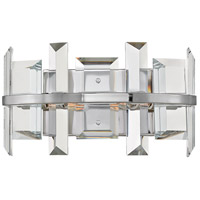 Odette 2 Light 13 inch Polished Nickel Sconce Wall Light