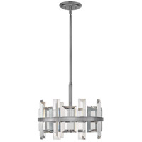 Fredrick Ramond FR39213GMT Odette 4 Light 17 inch Gunmetal Foyer Pendant Ceiling Light
