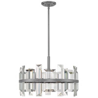Fredrick Ramond FR39214GMT Odette 6 Light 24 inch Gunmetal Pendant Ceiling Light