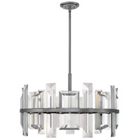 Fredrick Ramond FR39215GMT Odette 9 Light 30 inch Gunmetal Pendant Ceiling Light