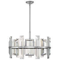 Fredrick Ramond FR39215PNI Odette 9 Light 30 inch Polished Nickel Chandelier Ceiling Light, Single Tier