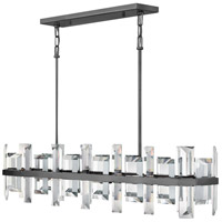 Odette 8 Light 42 inch Gunmetal Linear Chandelier Ceiling Light