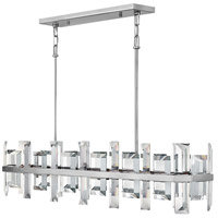 Fredrick Ramond FR39216PNI Odette 8 Light 42 inch Polished Nickel Linear Chandelier Ceiling Light