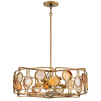 Lucia 8 Light 24 inch Burnished Gold Chandelier Ceiling Light, Single Tier