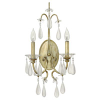 Fredrick Ramond Francesca 2 Light Sconce in Silver Leaf Finish FR40312SLF