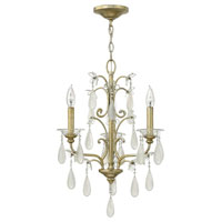 Fredrick Ramond Francesca 3 Light Chandelier in Silver Leaf Finish FR40313SLF