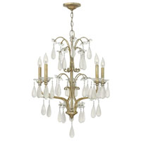 Fredrick Ramond Francesca 5 Light Chandelier in Silver Leaf Finish FR40315SLF