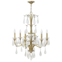 Fredrick Ramond Francesca 6 Light Chandelier in Silver Leaf Finish FR40316SLF