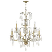 Fredrick Ramond Francesca 12 Light Chandelier in Silver Leaf Finish FR40318SLF