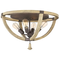 Middlefield 4 Light 24 inch Iron Rust Foyer Flush Mount Ceiling Light