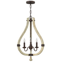 Middlefield 3 Light 16 inch Iron Rust Foyer Light Ceiling Light