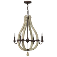 Fredrick Ramond FR40574IRR Middlefield 4 Light 22 inch Iron Rust Chandelier Ceiling Light, Single Tier