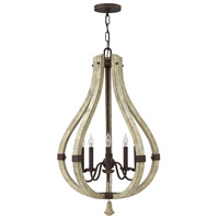 Middlefield 5 Light 20 inch Iron Rust Foyer Ceiling Light, Single Tier
