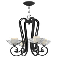 Fredrick Ramond Muse 4 Light Chandelier in Blacksmith FR40604BKS