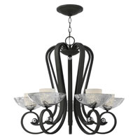 Fredrick Ramond Muse 5 Light Chandelier in Blacksmith FR40605BKS