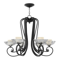 Fredrick Ramond Muse 6 Light Chandelier in Blacksmith FR40606BKS