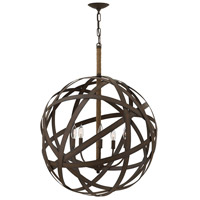 Carson 5 Light 27 inch Vintage Iron Chandelier Ceiling Light, Single Tier