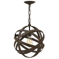 Carson 1 Light 13 inch Vintage Iron Mini-Pendant Ceiling Light