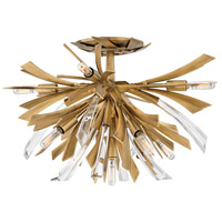 Vida 9 Light 21 inch Burnished Gold Semi-Flush Mount Ceiling Light