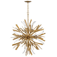 Fredrick Ramond FR40905BNG Vida 13 Light 36 inch Burnished Gold Chandelier Ceiling Light, Single Tier