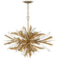 Vida 13 Light 36 inch Burnished Gold Chandelier Ceiling Light, Single Tier