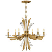 Fredrick Ramond FR40908BNG Vida 6 Light 29 inch Burnished Gold Chandelier Ceiling Light, Single Tier
