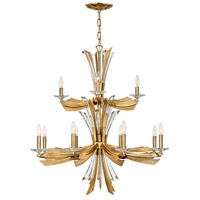 Fredrick Ramond FR40904BNG Vida 13 Light 22 inch Burnished Gold Chandelier Ceiling Light
