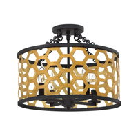 Felix 4 Light 16 inch Sunset Gold Semi-Flush Mount Ceiling Light