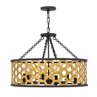 Felix 6 Light 24 inch Sunset Gold Chandelier Ceiling Light