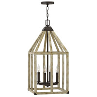 Emilie 4 Light 13 inch Iron Rust Foyer Light Ceiling Light