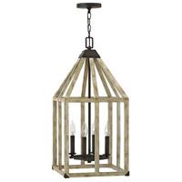 Fredrick Ramond FR41203IRR Emilie 4 Light 13 inch Iron Rust/Cottage Whitewash Foyer Light Ceiling Light
