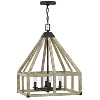 Emilie 4 Light 17 inch Iron Rust Chandelier Ceiling Light