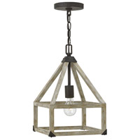 Emilie 1 Light 10 inch Iron Rust Mini-Pendant Ceiling Light