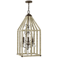 Emilie 3 Light 14 inch Iron Rust Foyer Ceiling Light, Single Tier