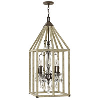 Emilie 4 Light 16 inch Iron Rust Foyer Ceiling Light, Single Tier