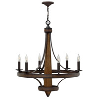 Bastille 6 Light 29 inch Vintage Bronze Chandelier Ceiling Light, Single Tier