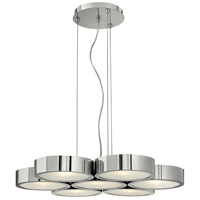 Fredrick Ramond Broadway 7 Light Chandelier in Poilished Aluminum FR41434PAL photo thumbnail