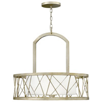 Fredrick Ramond FR41613SLF Nest 3 Light 24 inch Silver Leaf Chandelier Ceiling Light in White Scavo, Single Tier
