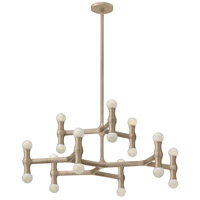 Fredrick Ramond FR41948CPN Karma 18 Light 31 inch Champagne Foyer Chandelier Ceiling Light, Two Tier