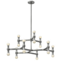 Karma 18 Light 31 inch Polished Aluminum Foyer Chandelier Ceiling Light in Poilished Aluminum, Two Tier