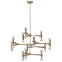 Fredrick Ramond FR41949CPN Karma 24 Light 30 inch Champagne Foyer Chandelier Ceiling Light, Three Tier