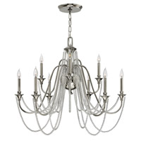 Cortina 9 Light 36 inch Polished Nickel Chandelier Ceiling Light
