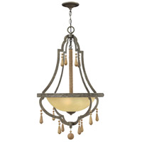 Cordoba 3 Light 22 inch Distressed Iron Foyer Pendant Ceiling Light