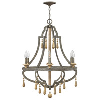 Cordoba 6 Light 26 inch Distressed Iron Chandelier Ceiling Light, Single Tier